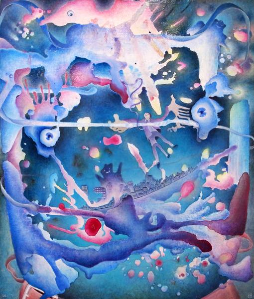 [ 犬の方舟 ] acrylic on panel canvas 2011
