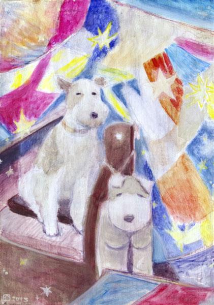 [ 犬ティッシュ ] oil on canvas 2013 F3 size